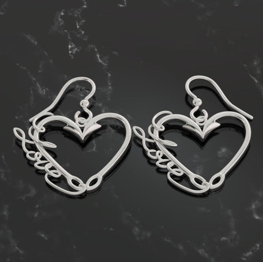 Fishing Love Earrings