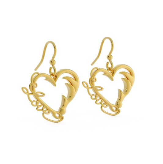 Fishing and Hunting Love Earrings