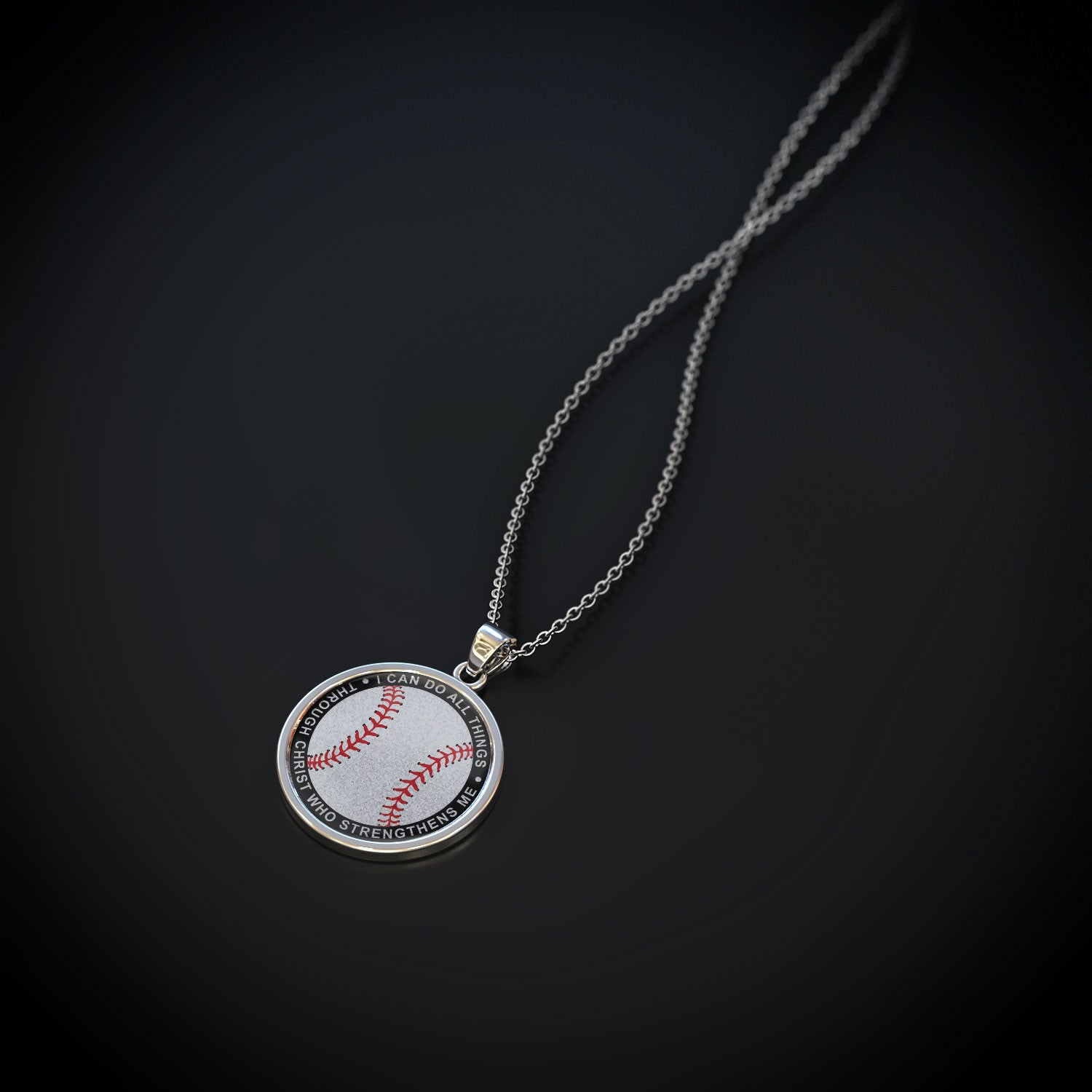 I Can Do All Things Baseball Pendant