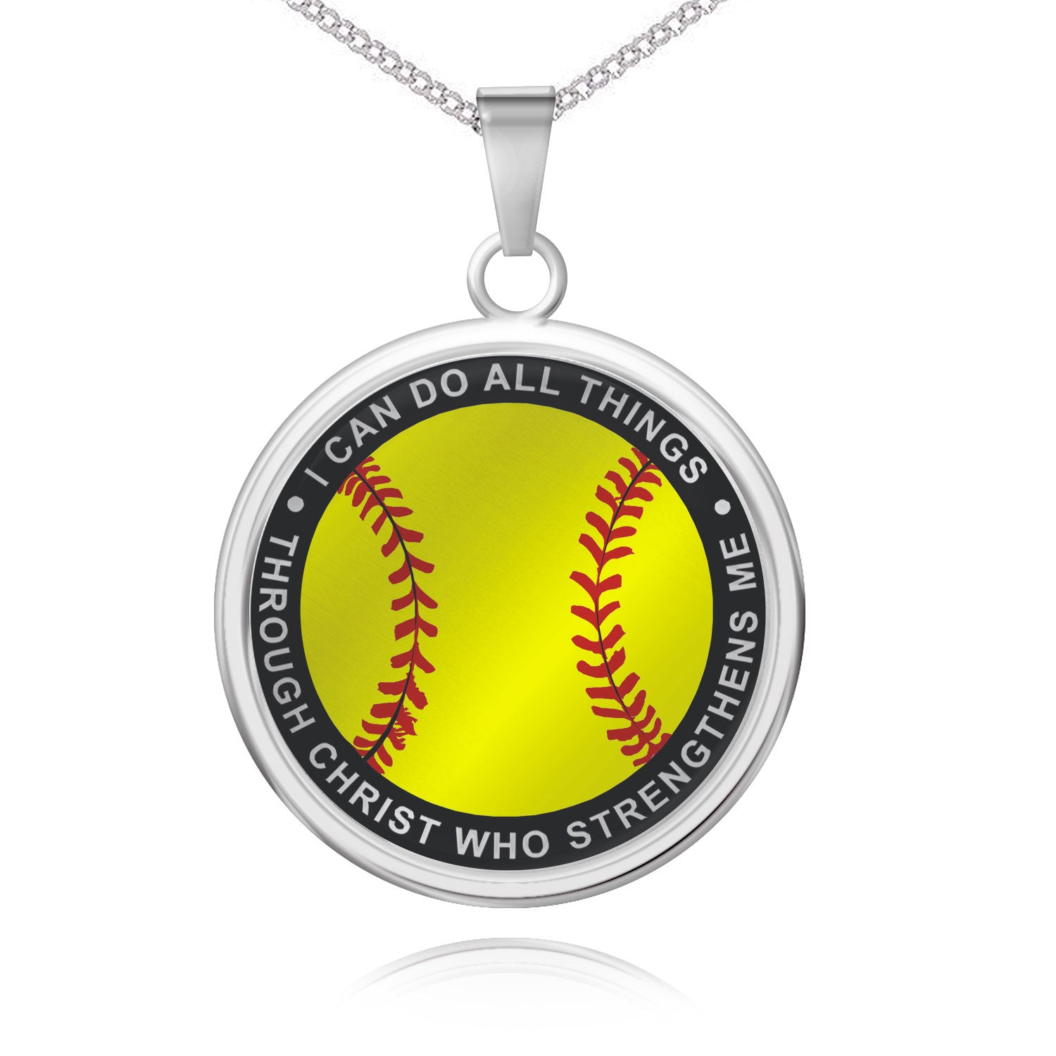 I Can Do All Things Softball Pendant