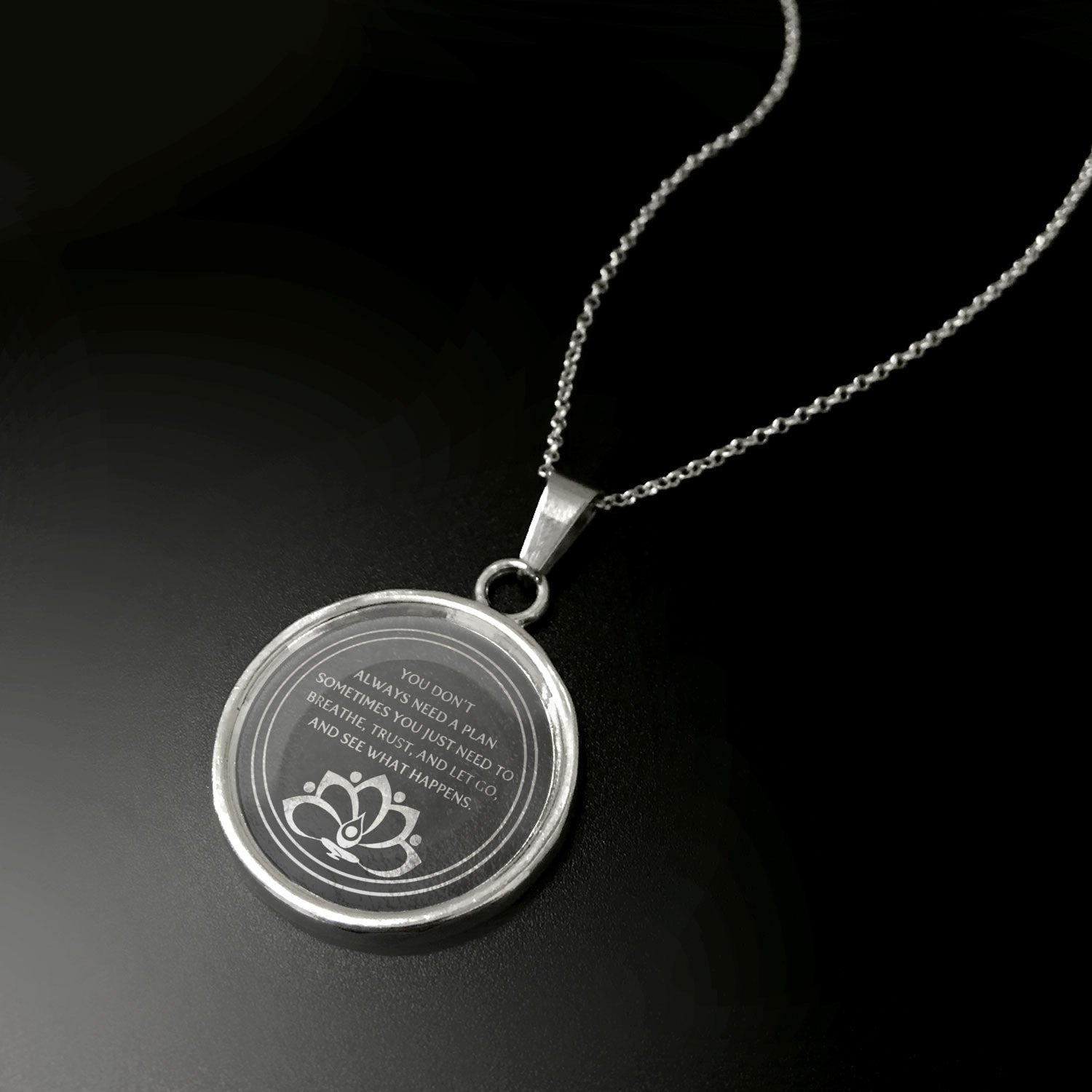 Breathe Trust & Let Go Pendant