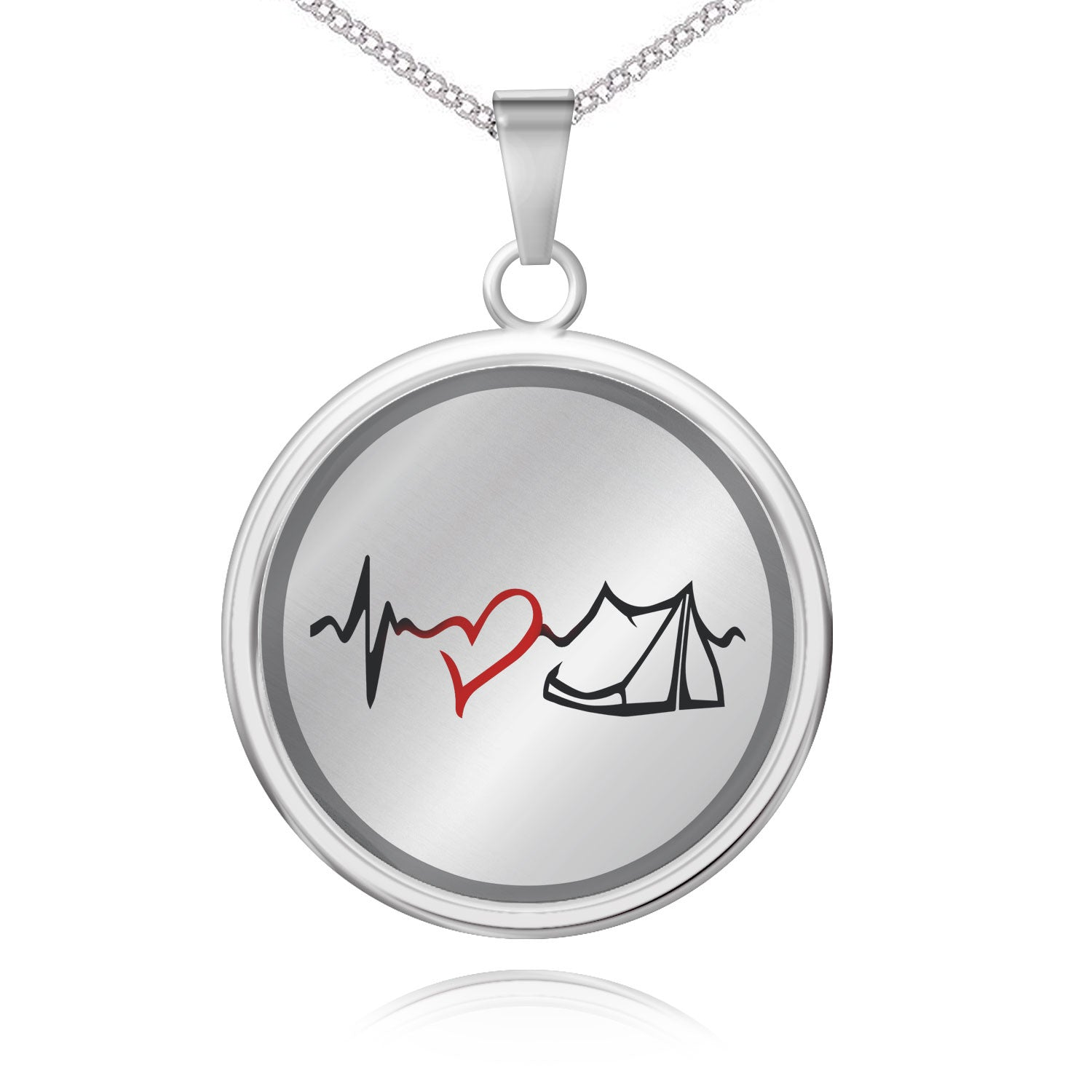 Camping Heartbeat Pendant