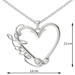 Love Fishing 2 Birthstone Pendant