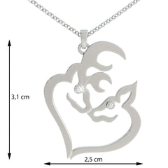 Doe and Buck 2 Birthstone Pendant