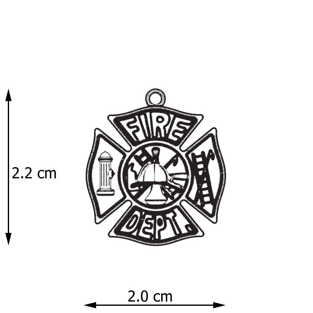 maltese shield protection jewelry silver firefighter necklace fire fighter sterling cross bling pmr pendant