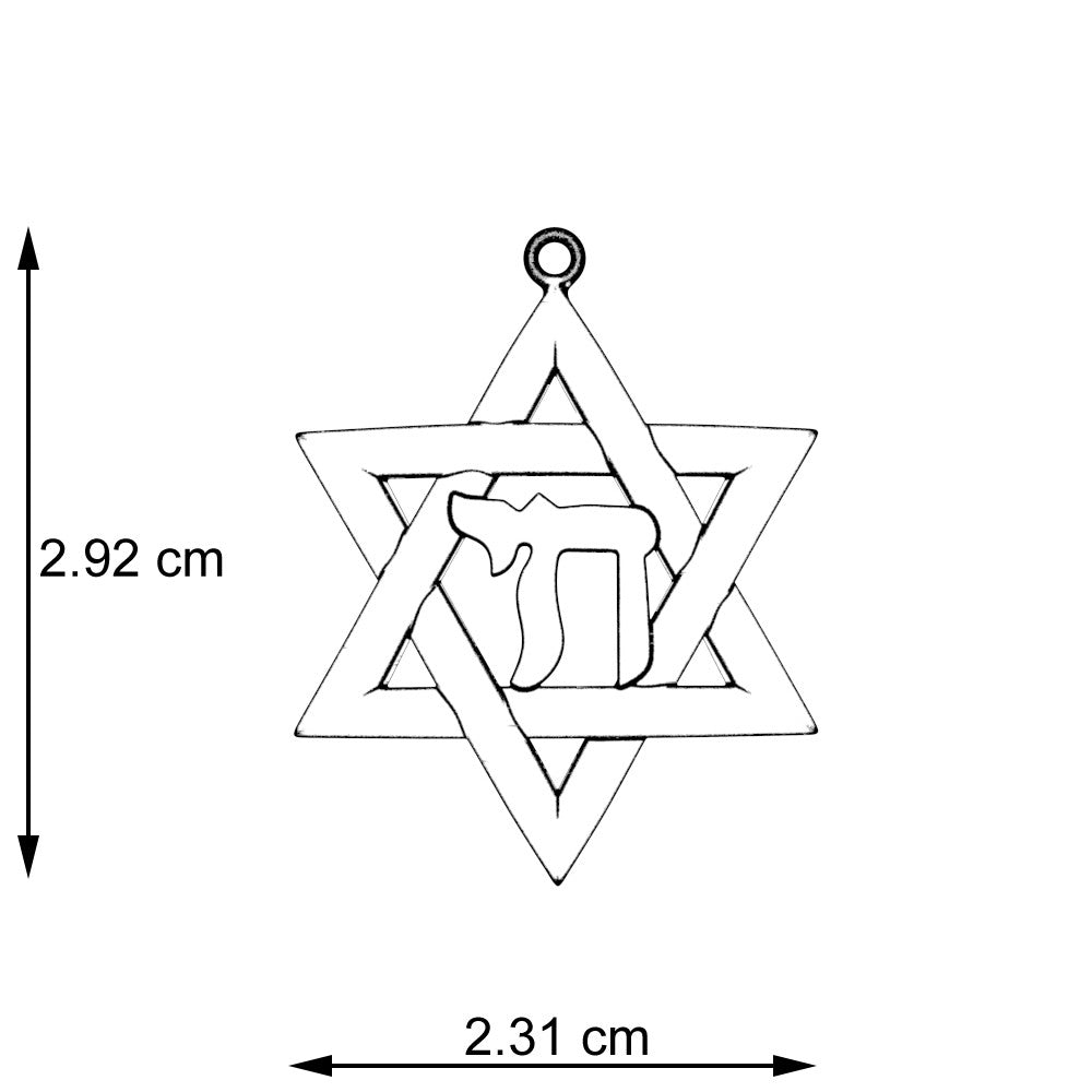 Star of David with Chai Pendant
