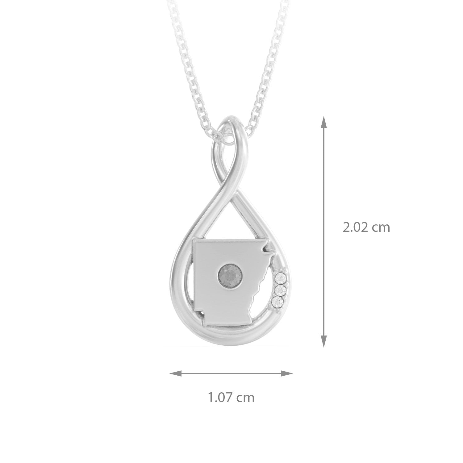 Arkansas Caperci Sterling Silver Created Diamond Accent Infinity Pendant Necklace