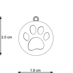 Bathe To Save Paw Cut-Out Pendant