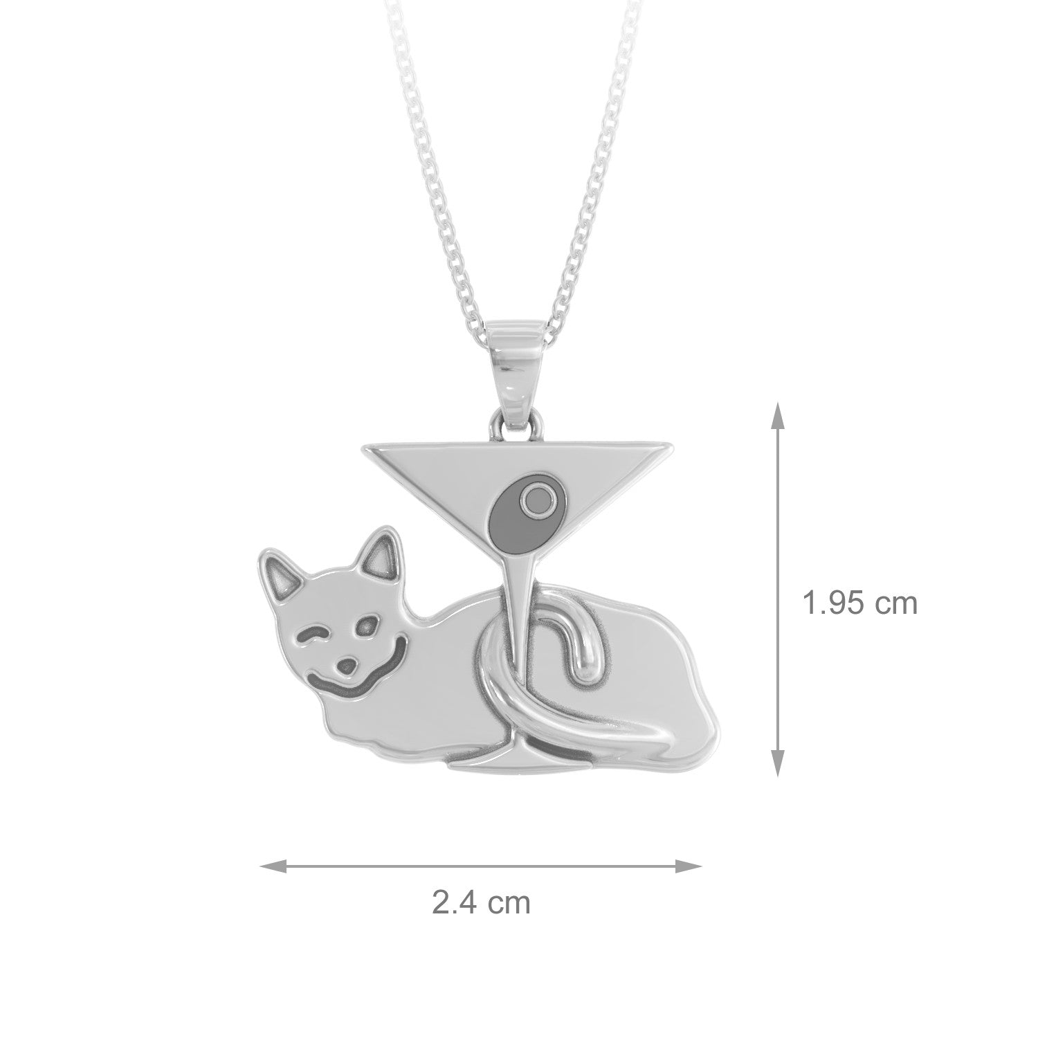 Kitty Martini Necklace