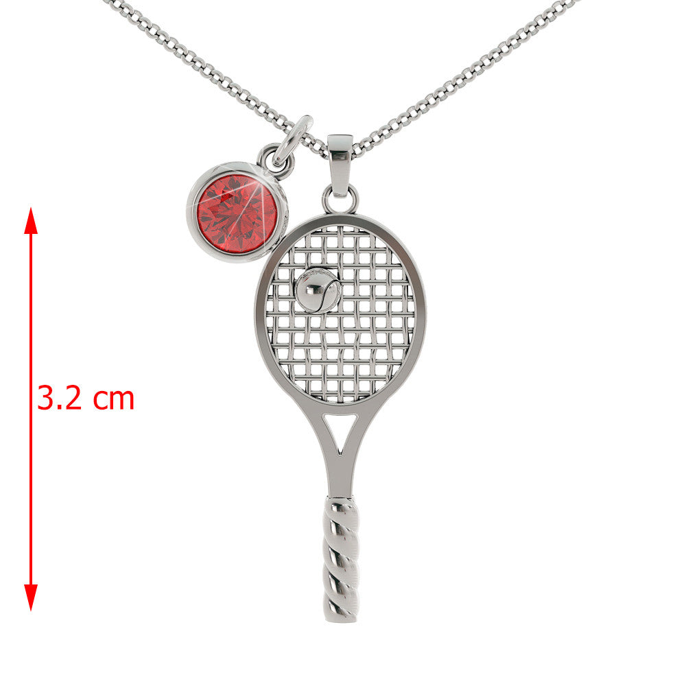 Love Tennis - Birthstone Pendant