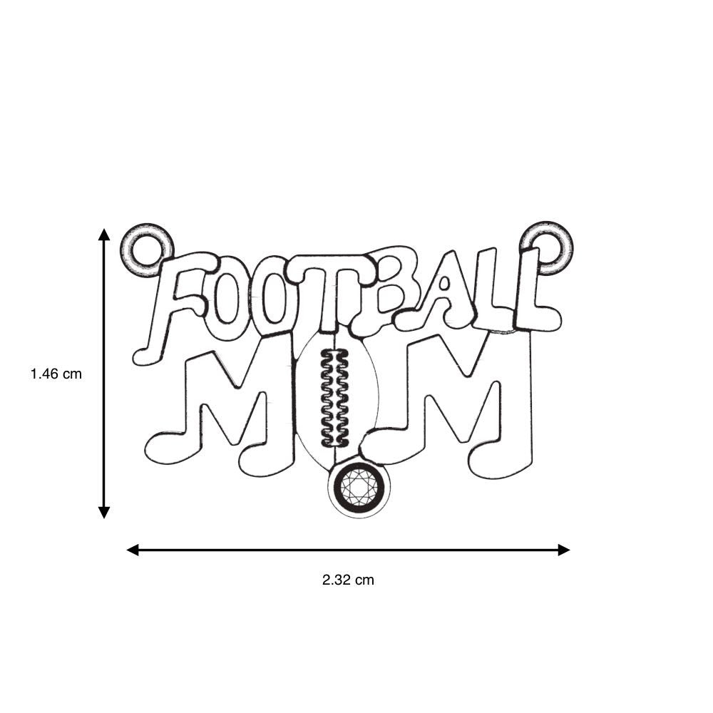 Football Mom - Birthstone Necklace