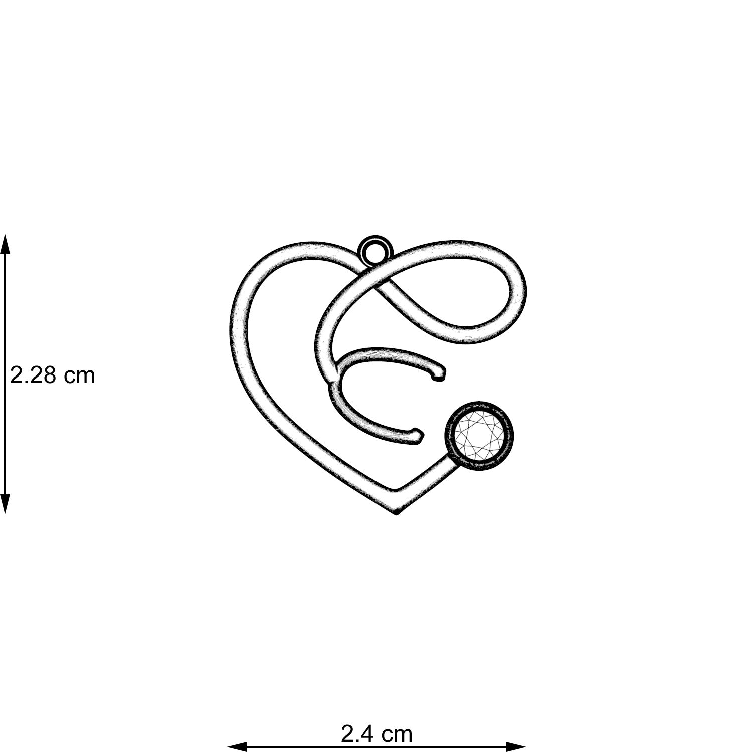 Stethoscope Heart Infinity Necklace