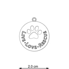 Live - Love - Rescue Pendant