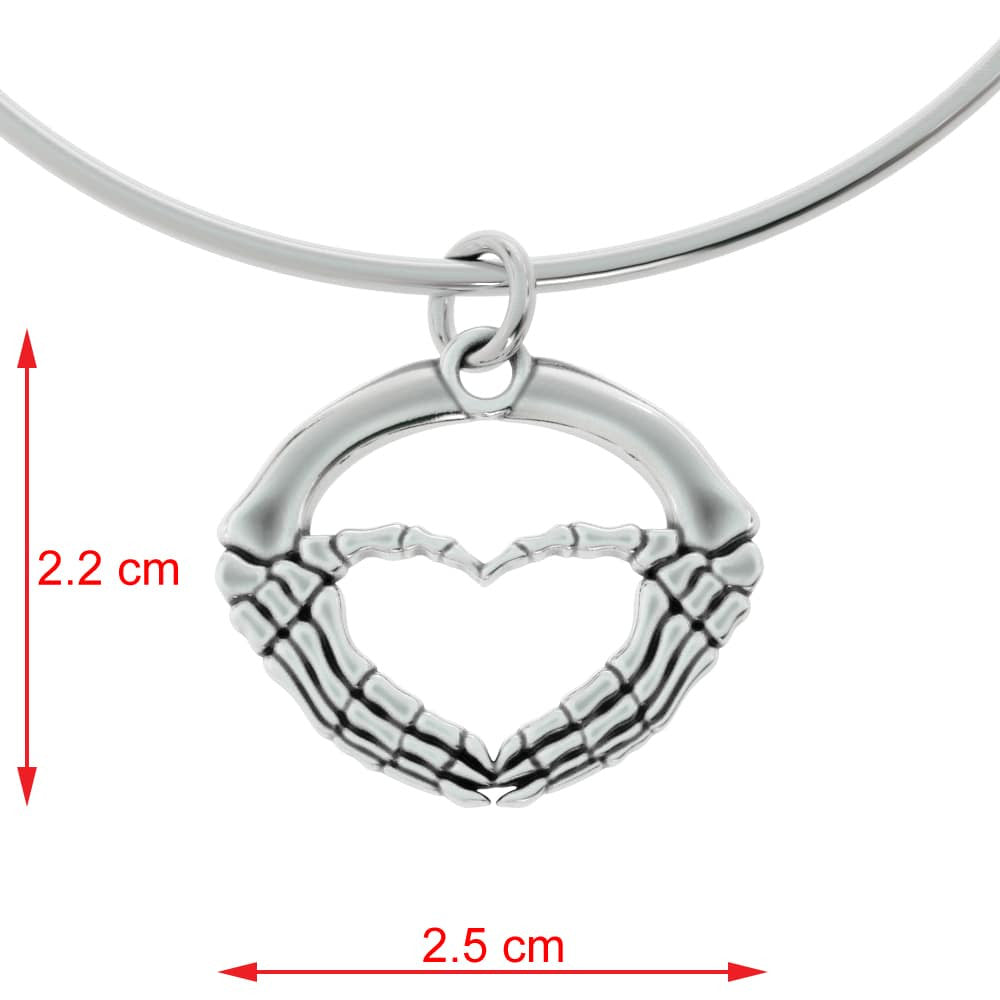 GR Skeleton Heart Hands Pendant