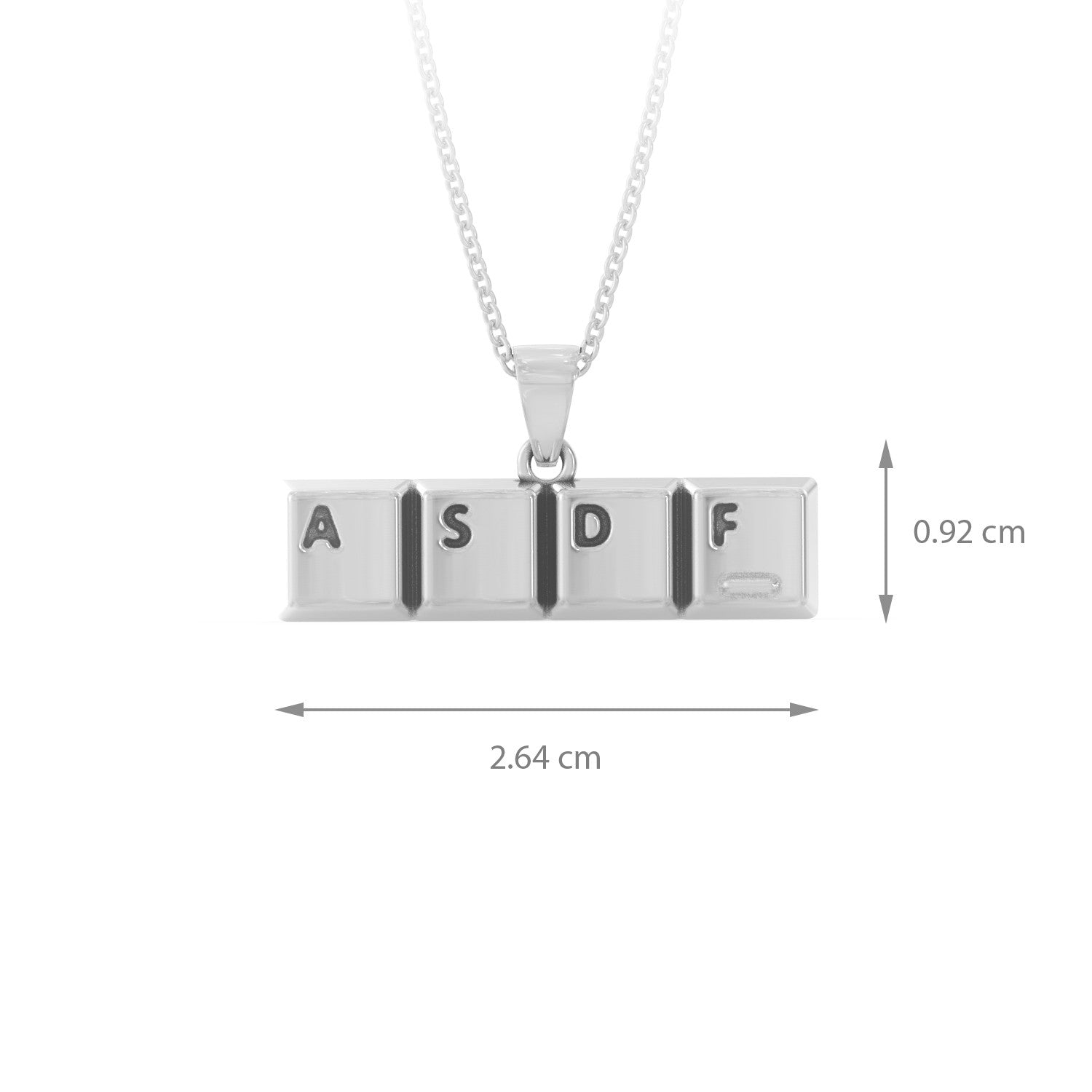 ASDF Heart Necklace