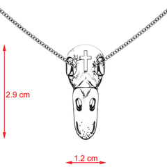 Duck Skull Cross Pendant