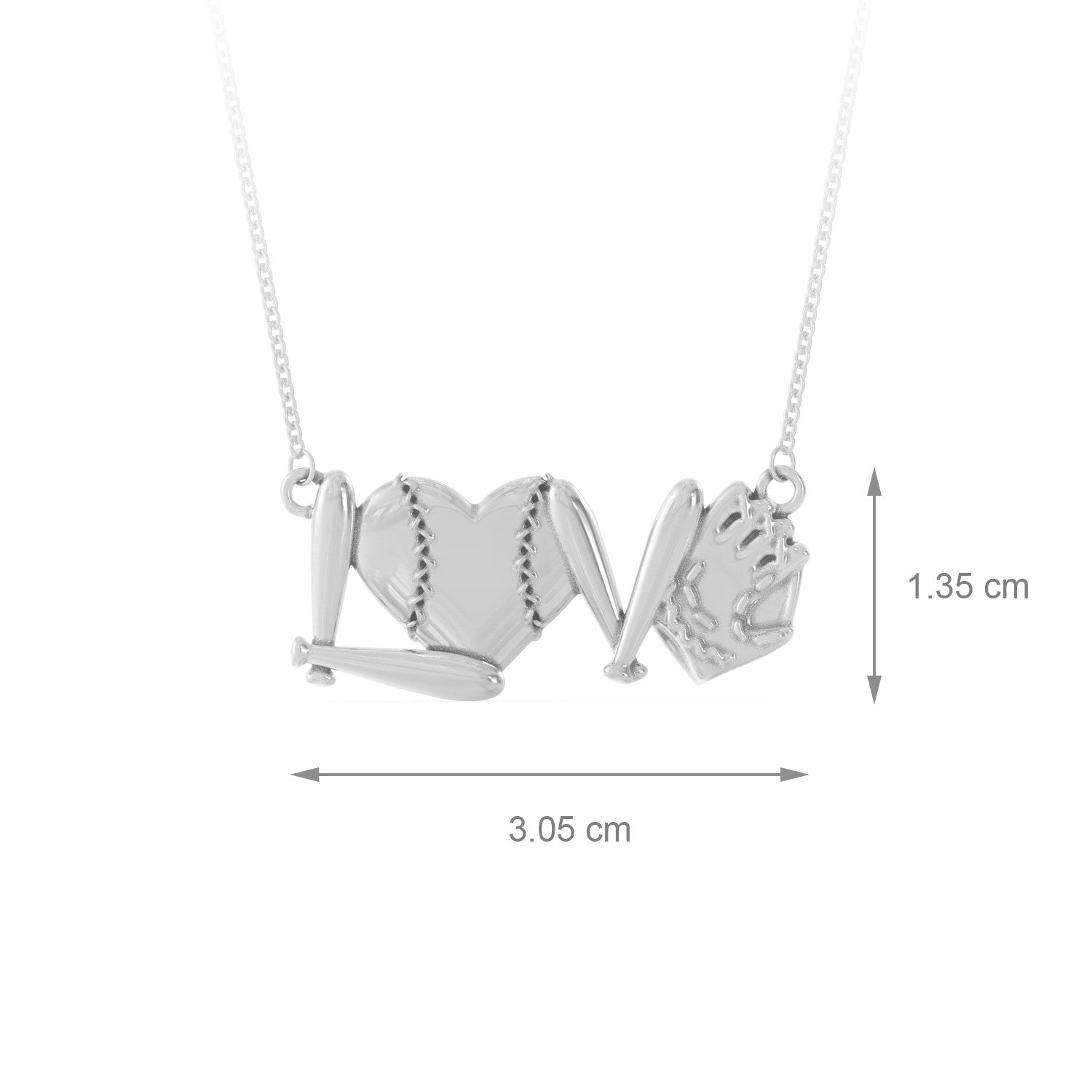 Baseball Love Necklace