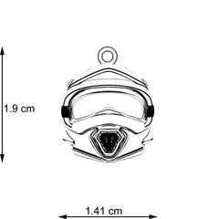 Motocross Helmet Necklace - STRICTLY LIMITED EDITION