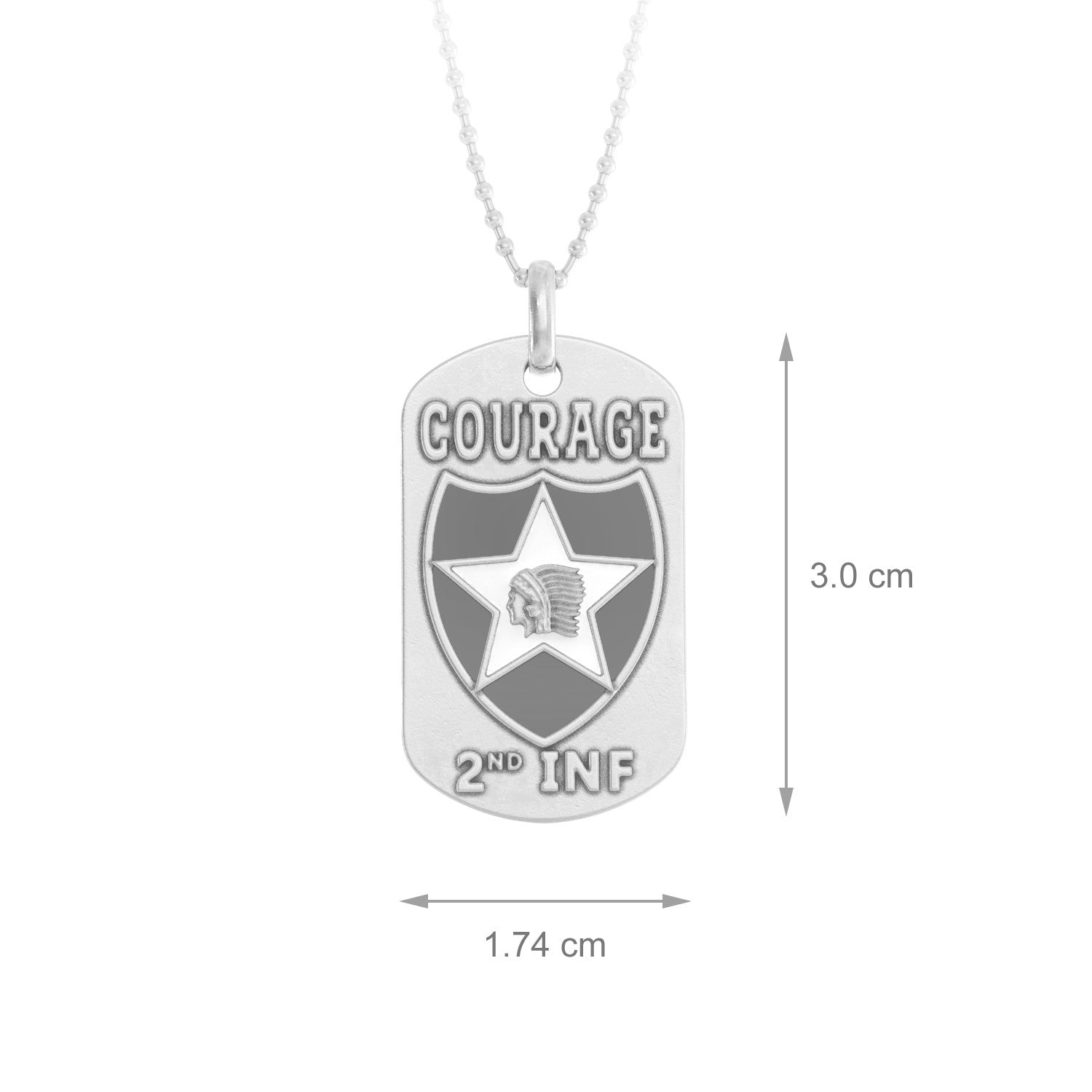 2nd Infantry Division (United States) Dog Tag