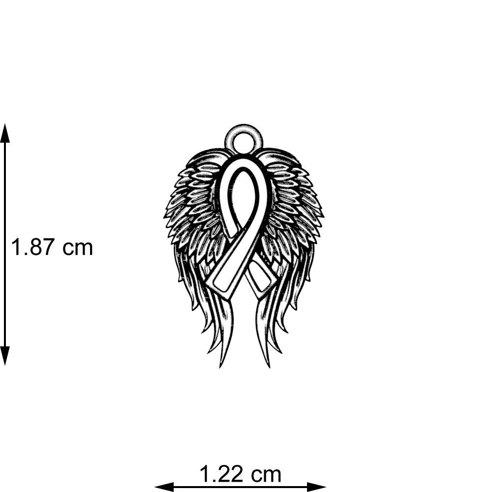 Angel Wings Awareness Necklace