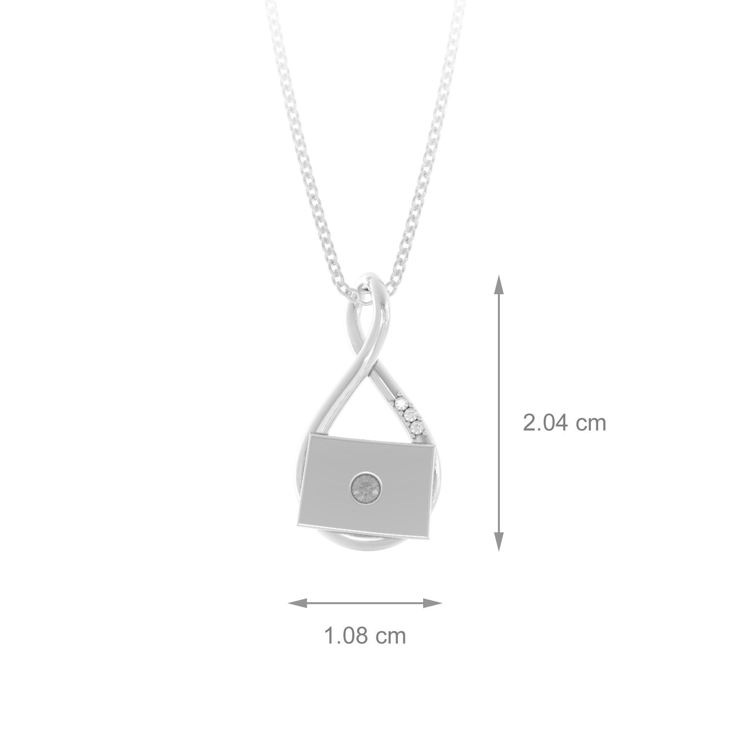 Colorado Caperci Infinity Pendant Necklace