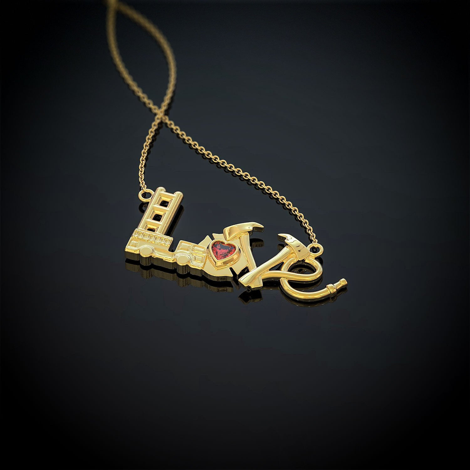 Firefighter Love Necklace