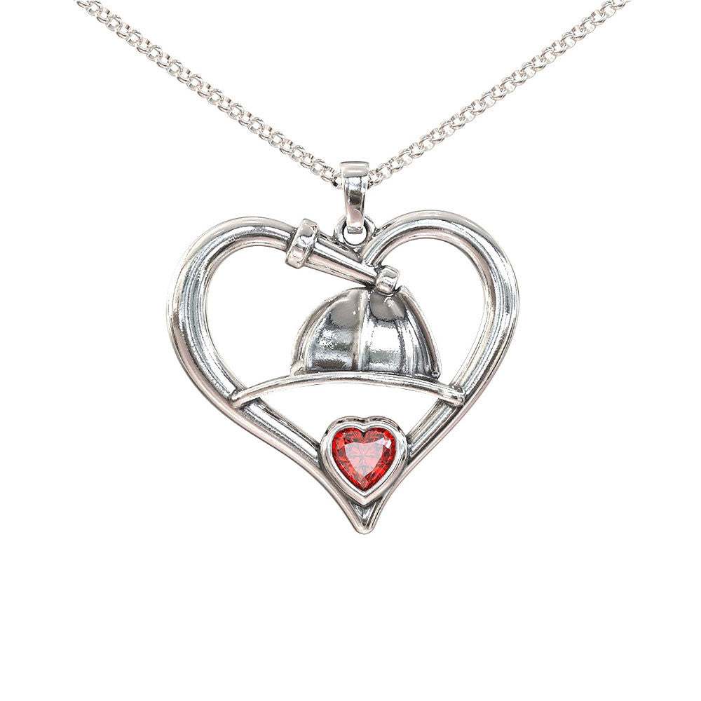 Heart Firefighter Necklace