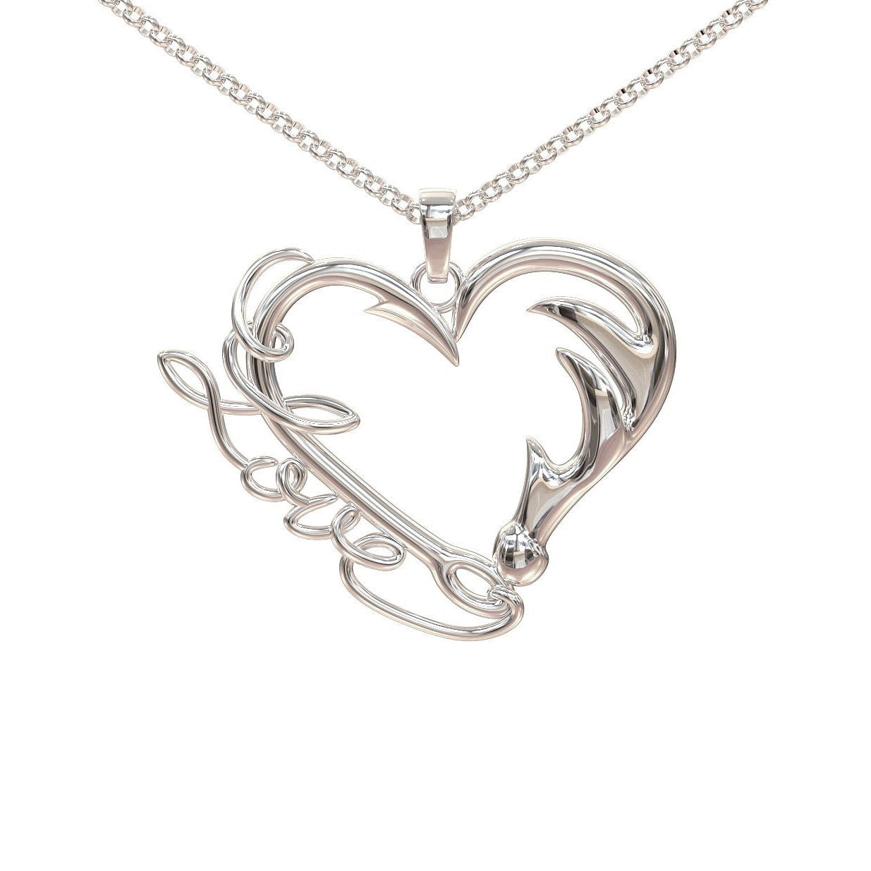 Fishing and Hunting Love Pendant