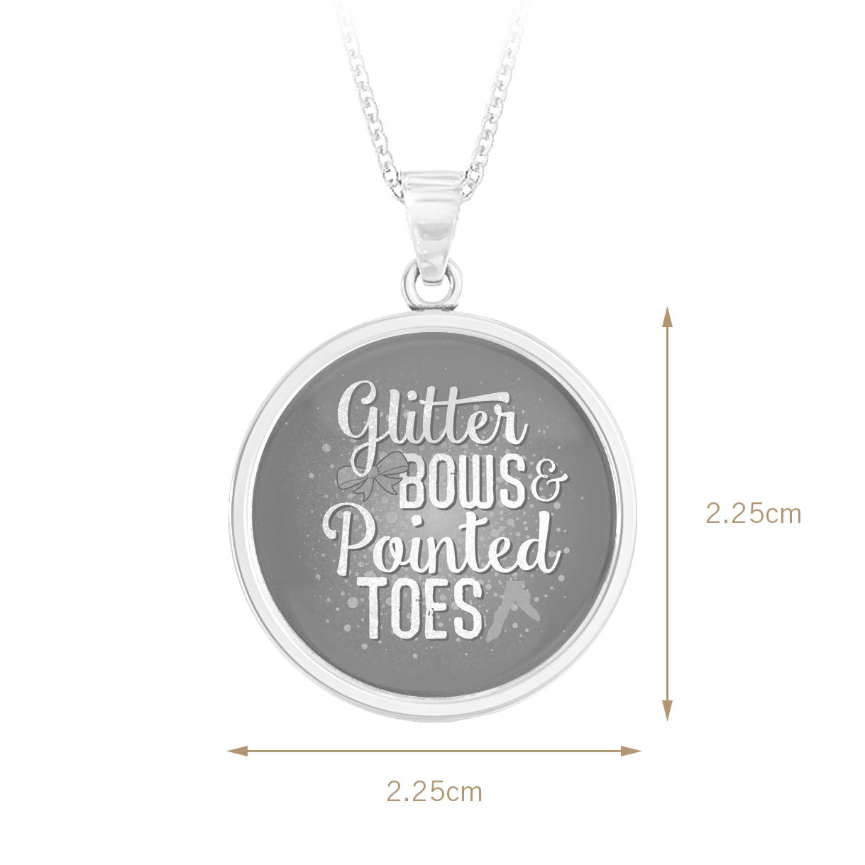 Glitter Bows & Pointed Toes Pendant