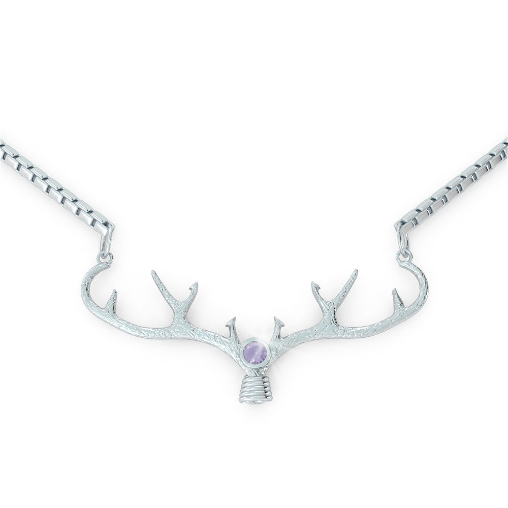 Antler - Birthstone Necklace (.925 silver)
