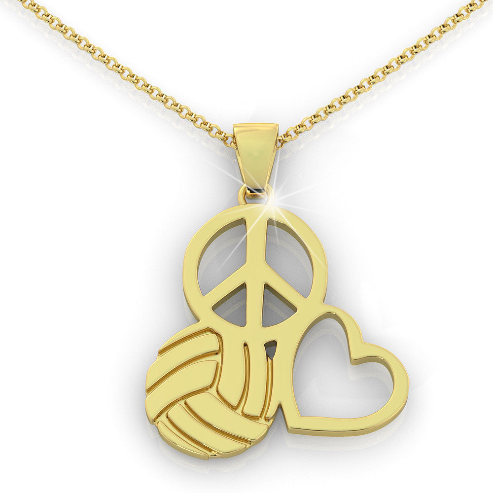 Volleyball love Pendant