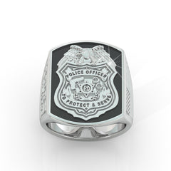 Hold the Line Police Ring - Limited Edition