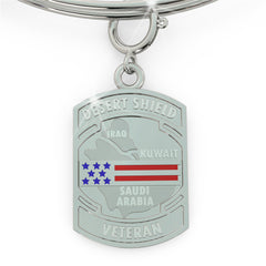 Operation Desert Shield tag/charm (.925 silver)