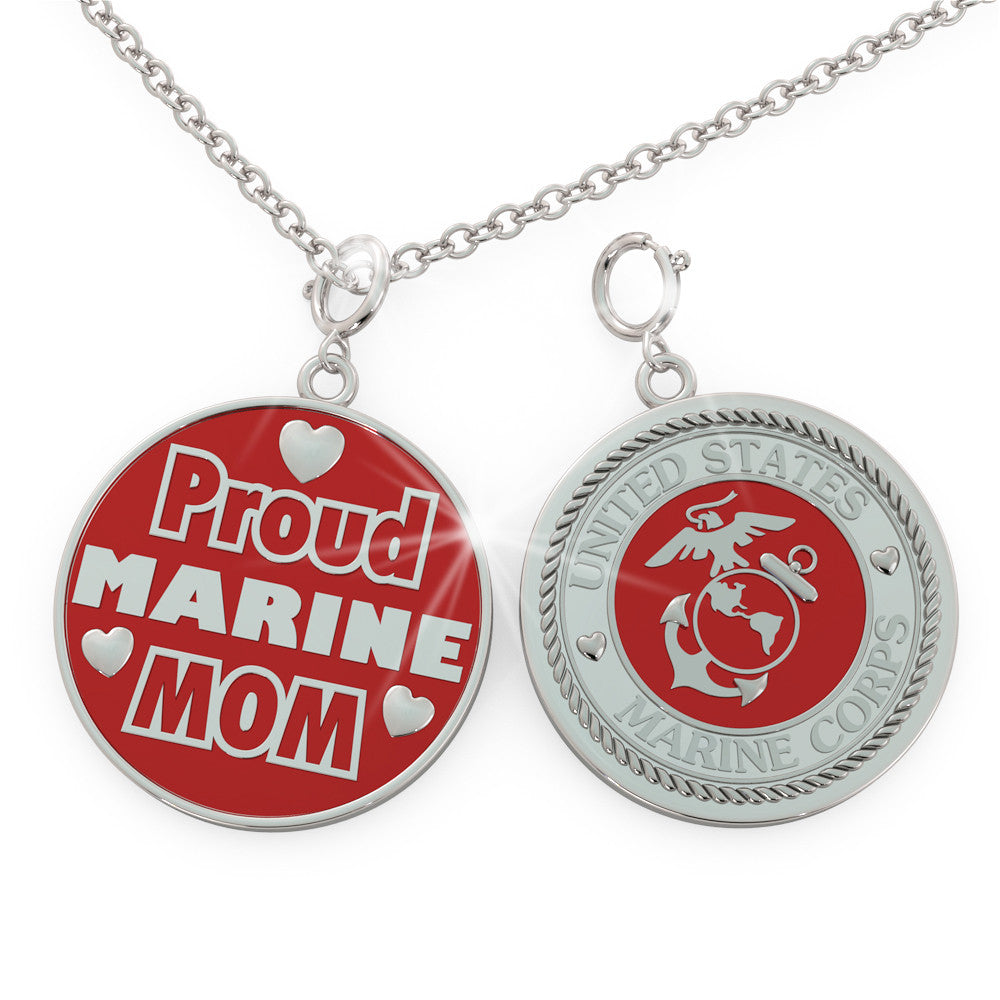 Proud MARINE Mom (.925 silver)