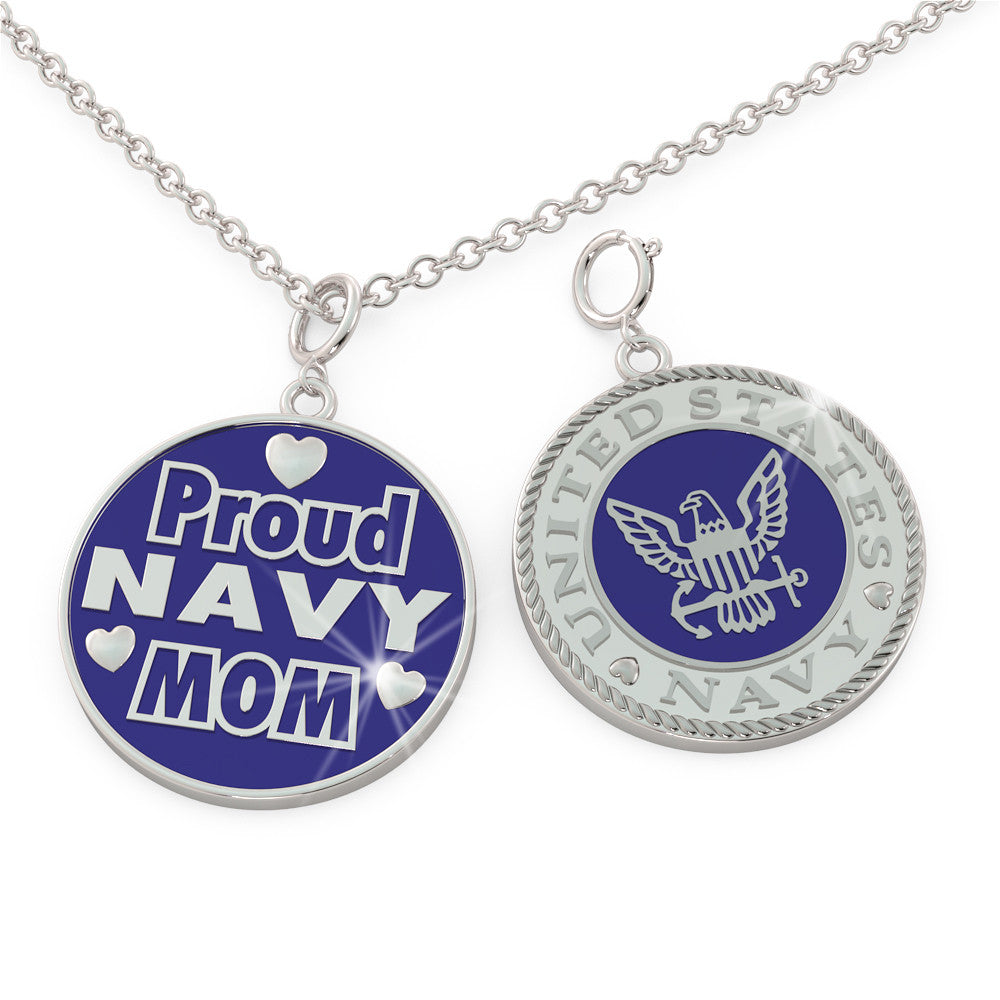 Proud NAVY Mom (.925 silver)