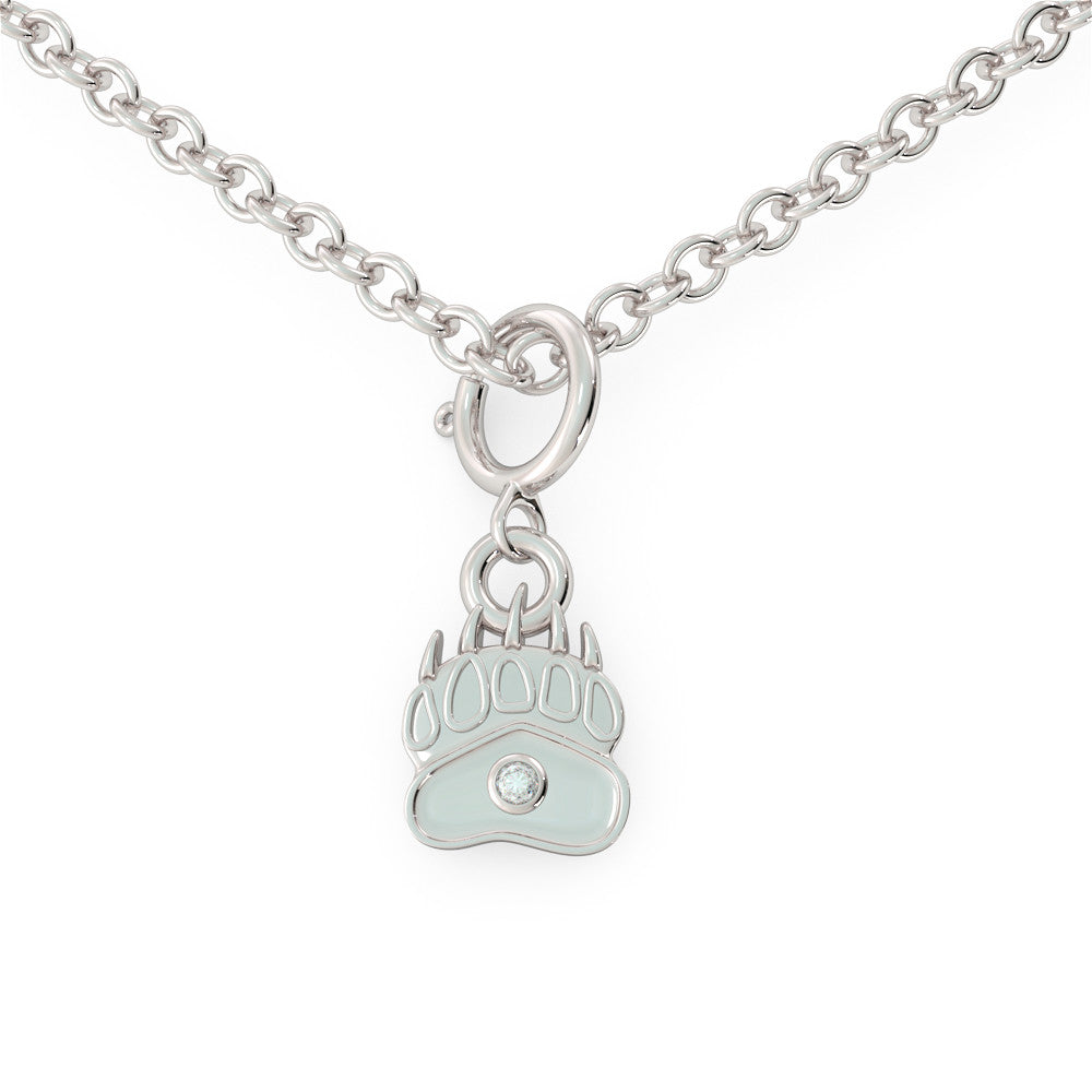 Baby Bear - Birthstone Necklace (.925 silver)