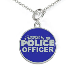 Protected by my POLICE OFFICER Charm (.925 silver)