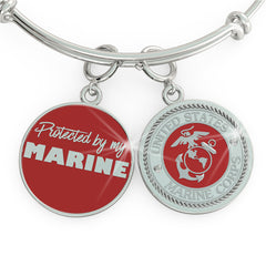 Protected by my MARINE Charm (.925 silver)