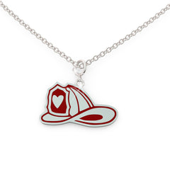 FIREMAN burning love Necklace (.925 silver)