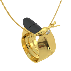 Golden Scooter Ring & Pendant