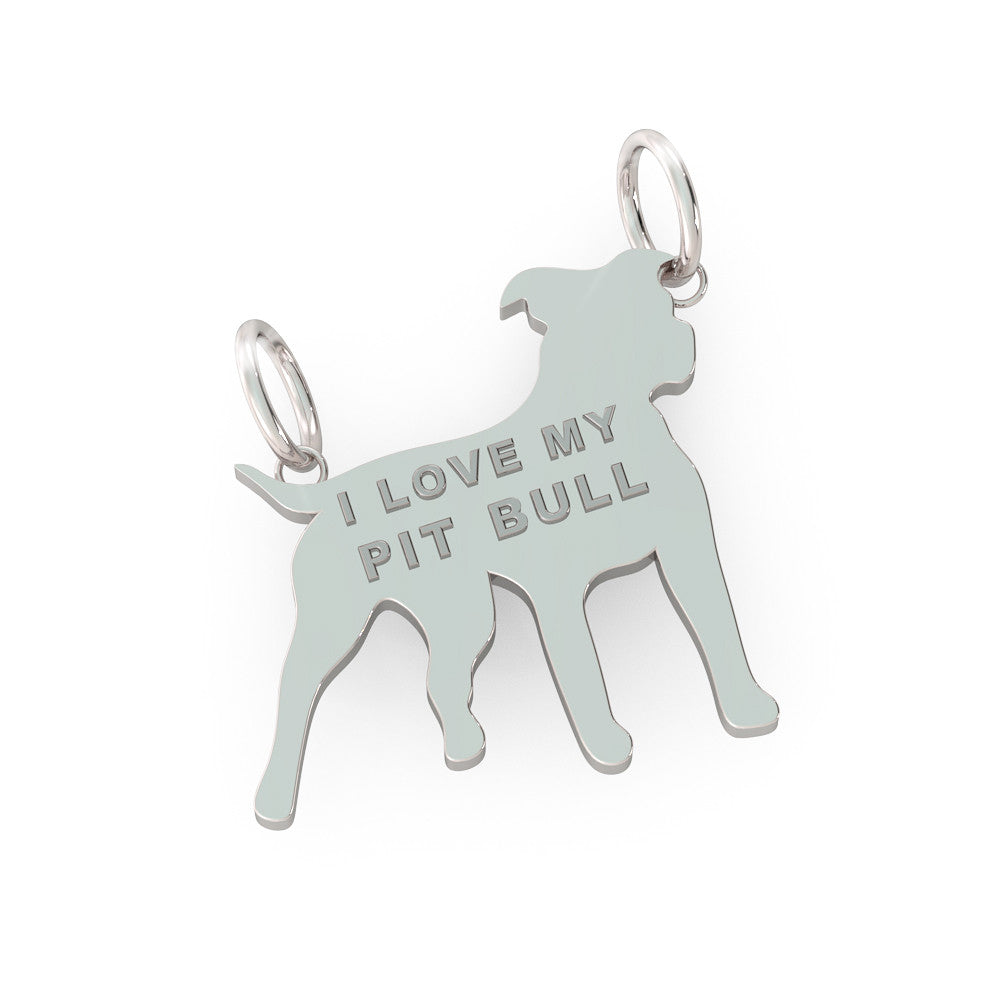 I Love my Pit Bull Pendant (.925 silver)