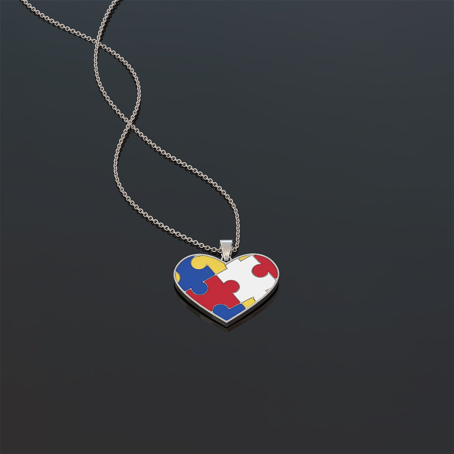 Autism Heart Necklace and Pendant