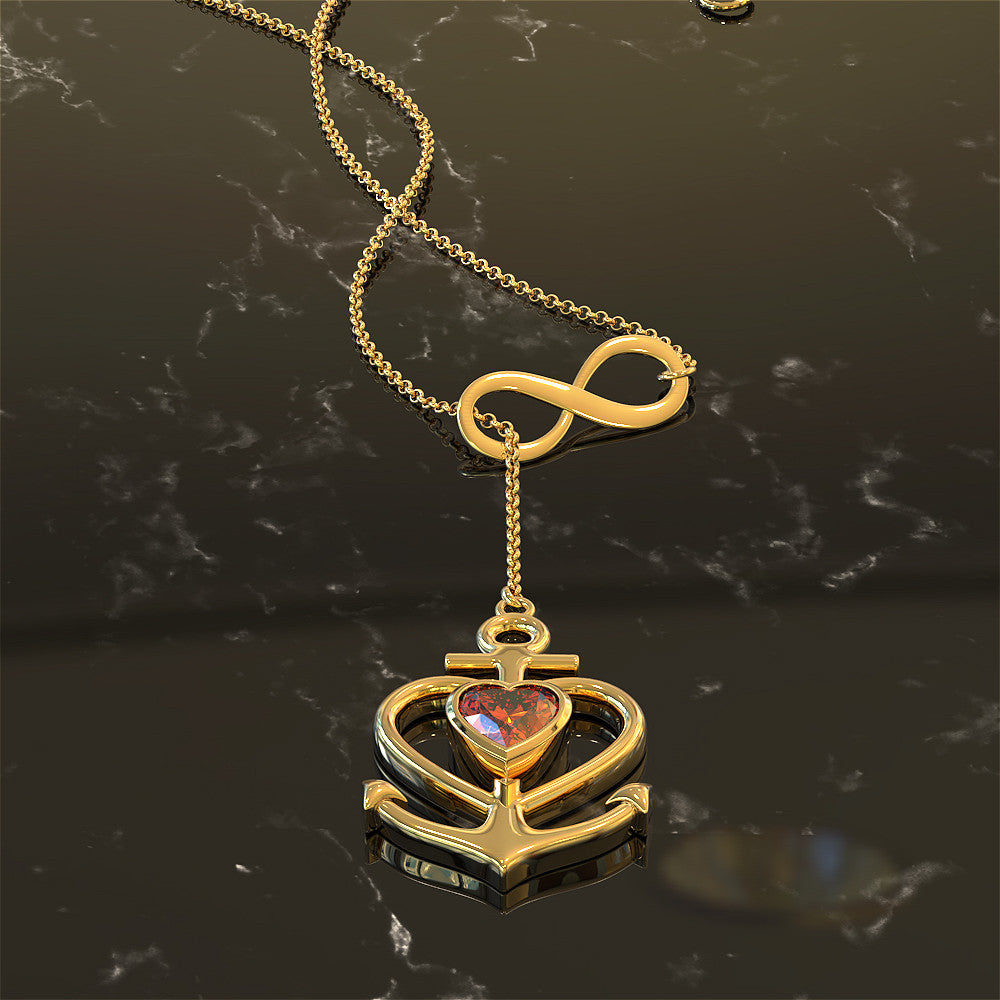Our Love Anchors My Soul Forever Necklace