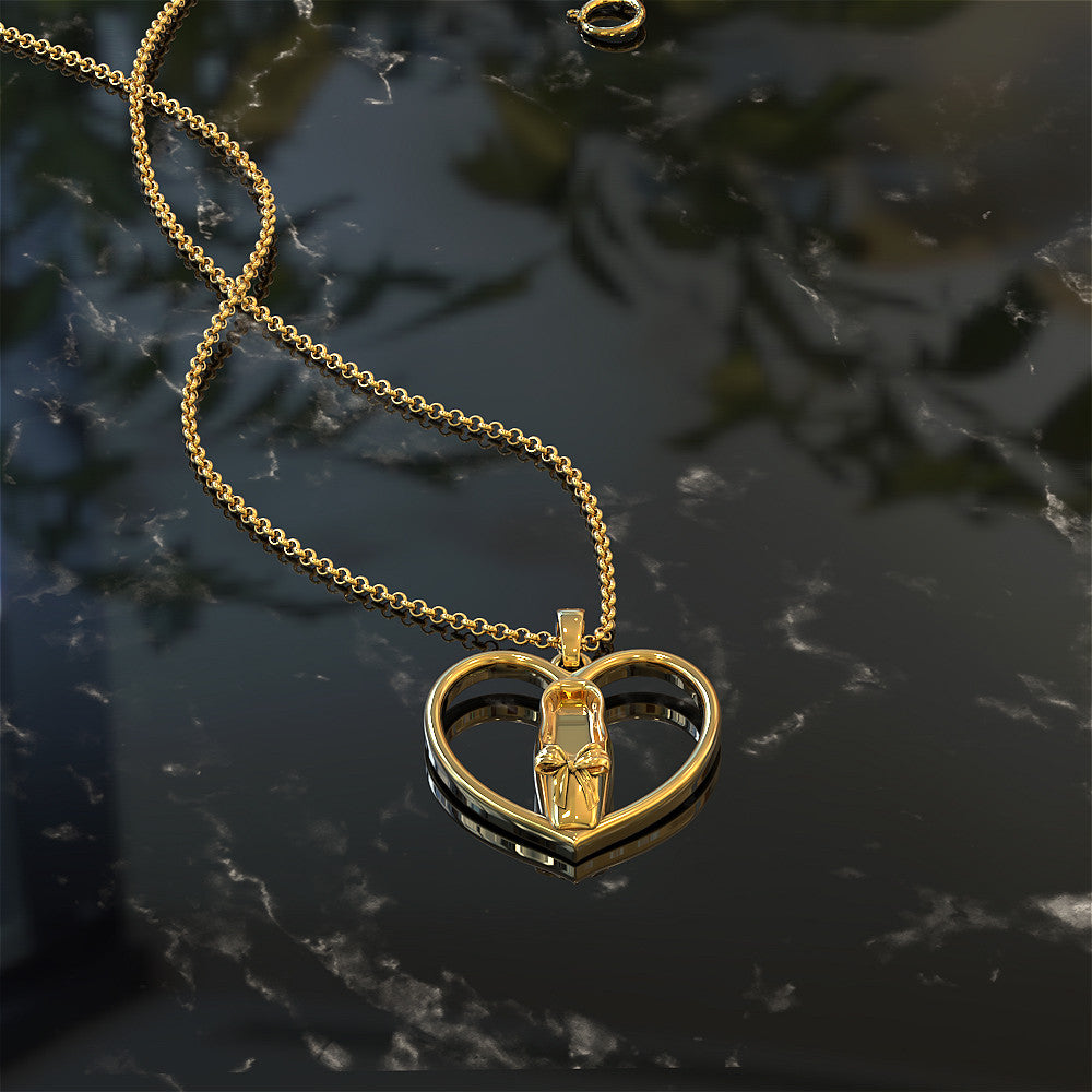 Ballet Heart Necklace