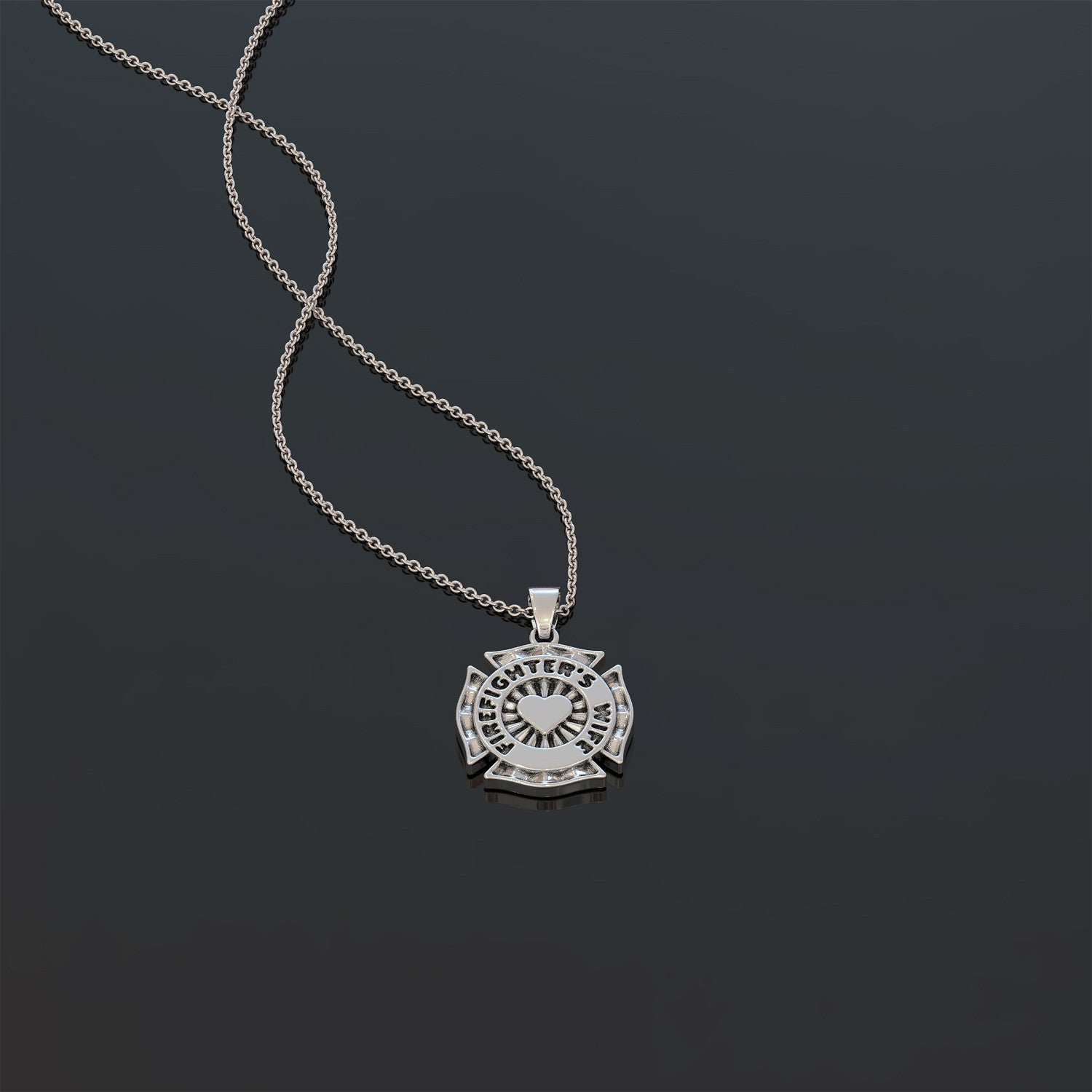 Fire Fighter Wife Necklace