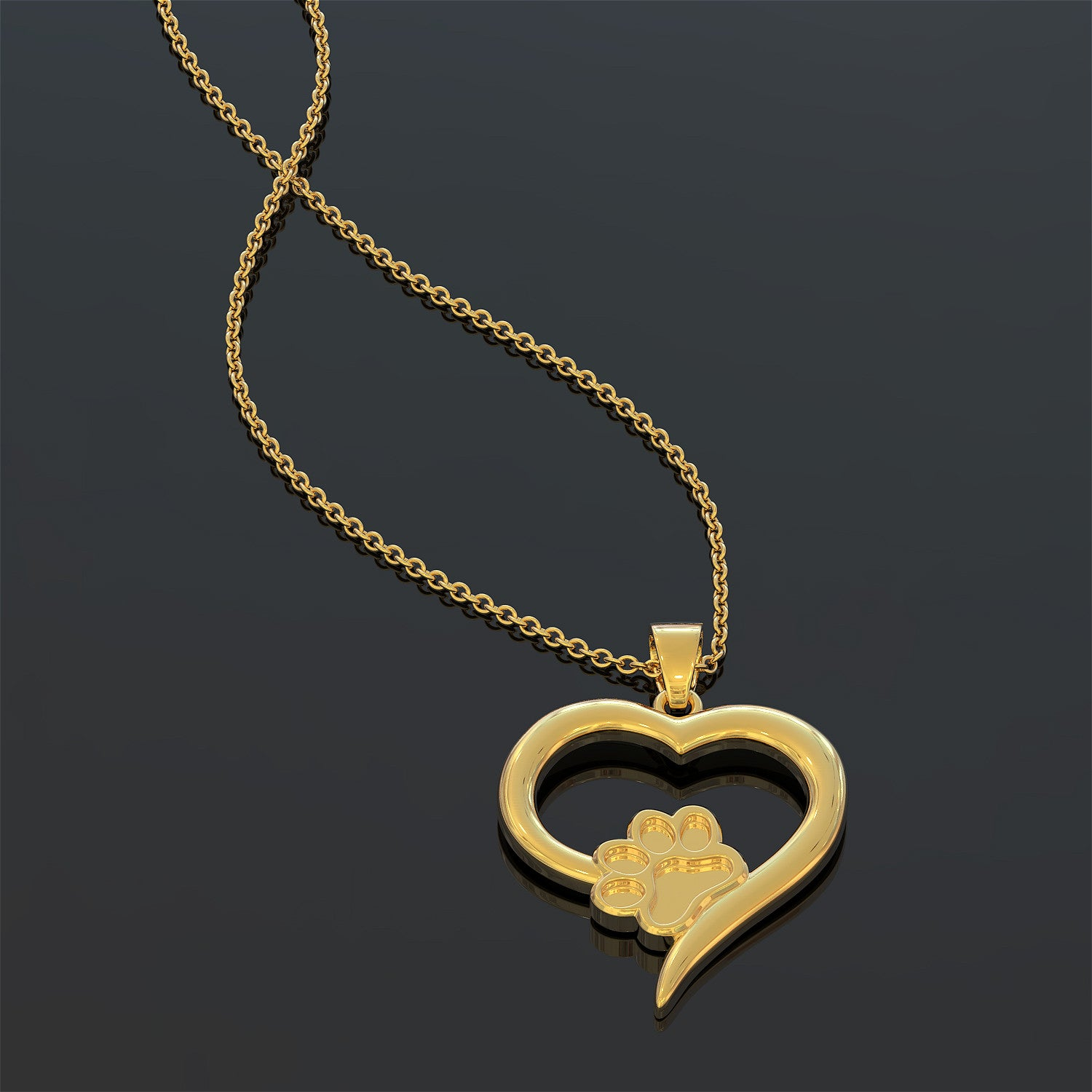 Forever Love Heart Puppy Necklace
