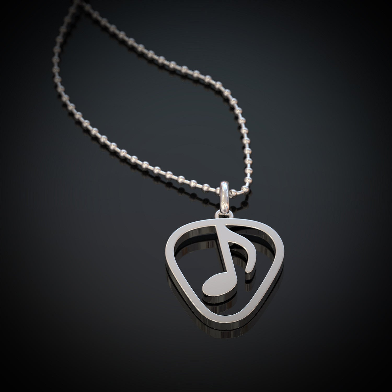 Love Guitar Music Necklace
