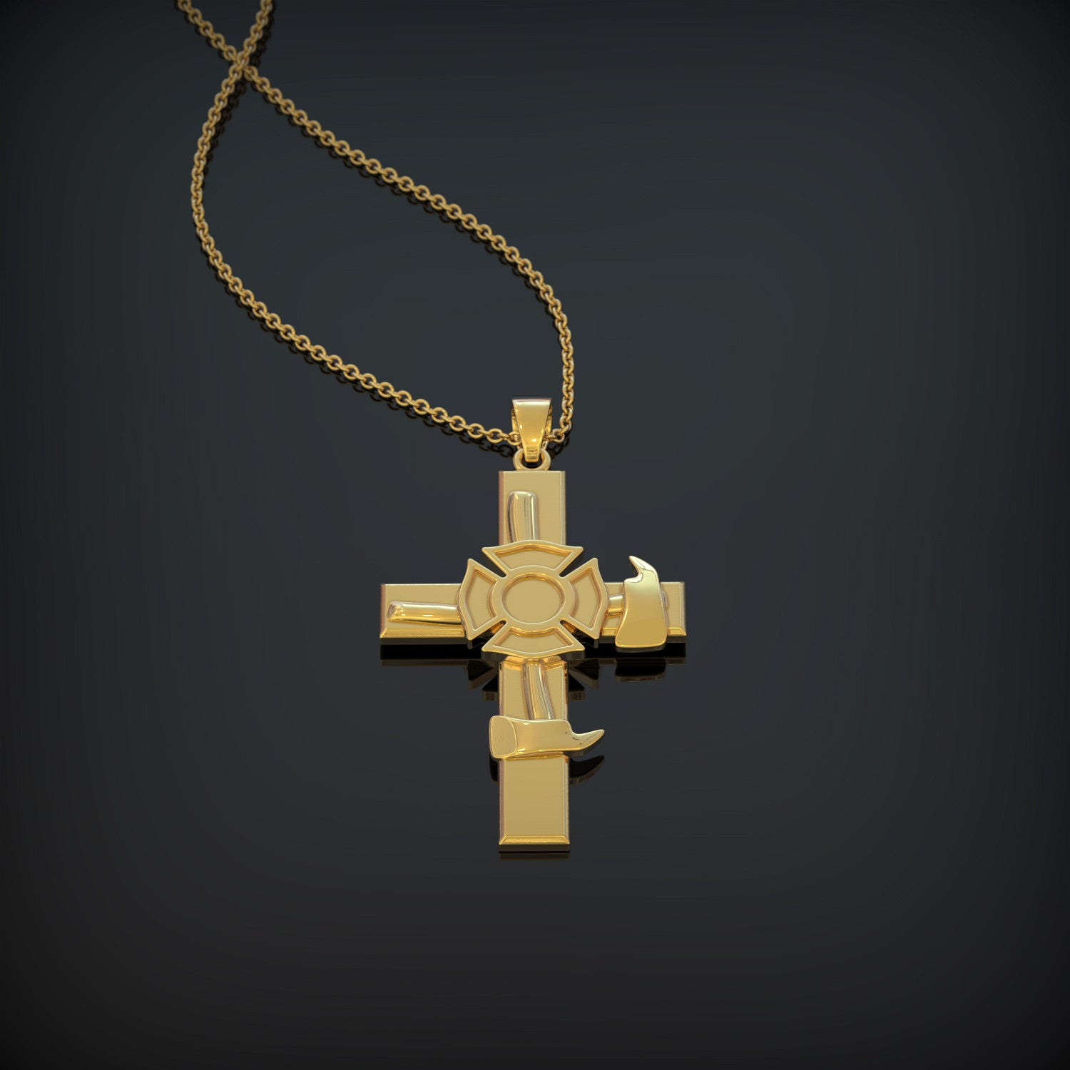 Firefighters Cross Necklace