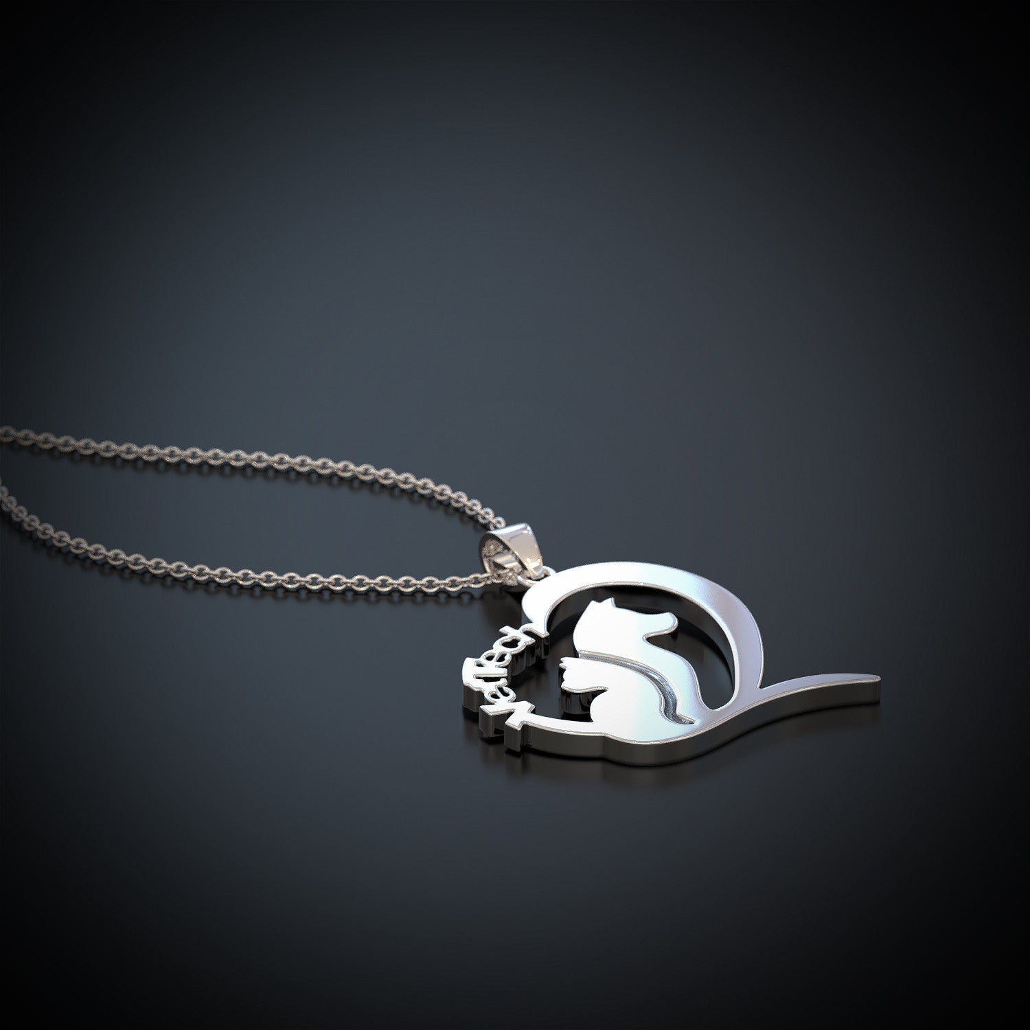 Vet Tech Heart Pendant Necklace