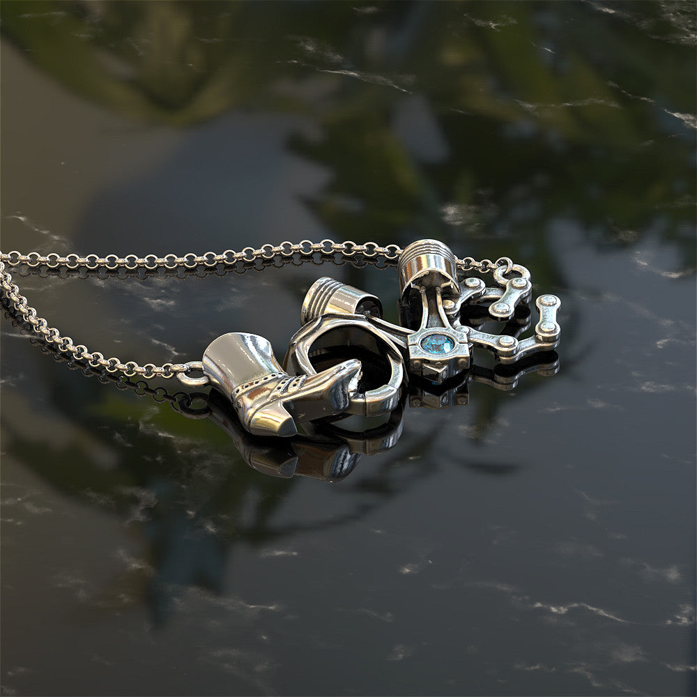 Biker - LOVE Birthstone Pendant STRICTLY LIMITED EDITION